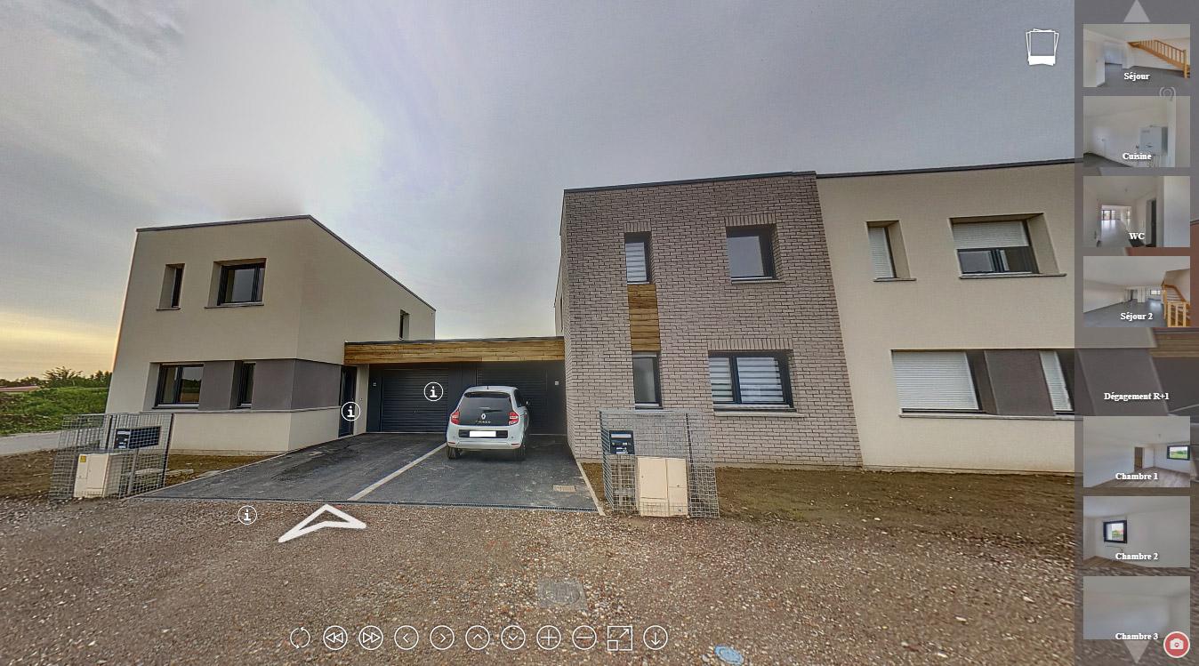 Visite virtuelle 360 soci t r gionale des cit s jardins - Garage a louer tourcoing ...