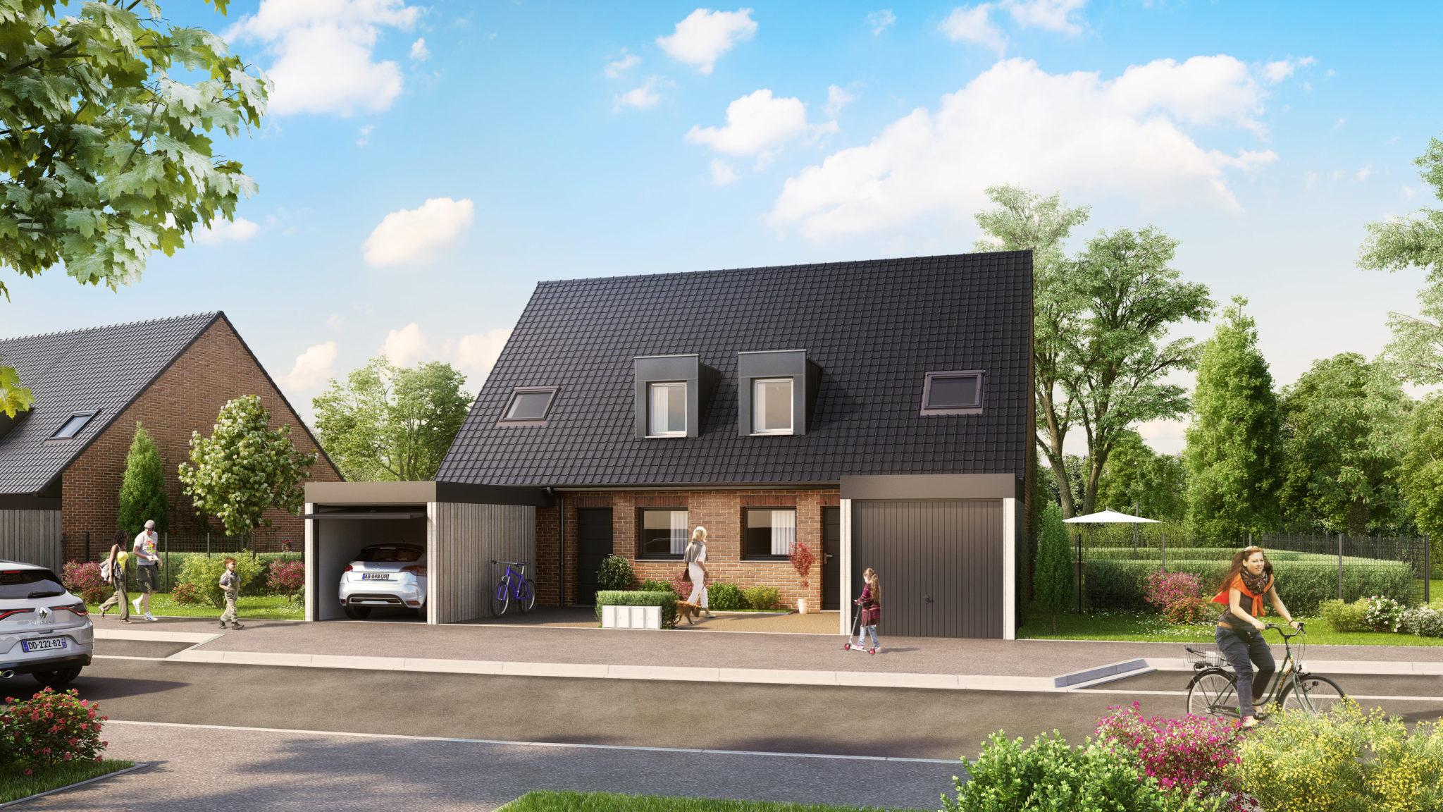 Maison neuve en psla lestrem avec la srcj for Prix maison neuve 2 chambres
